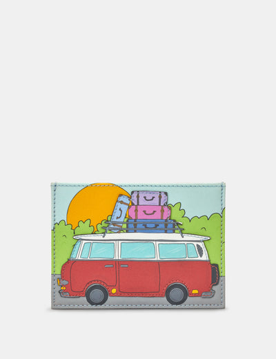 Camper Van Leather Academy Card Holder - Yoshi