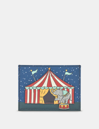 Circus Tent Leather Academy Card Holder - Yoshi