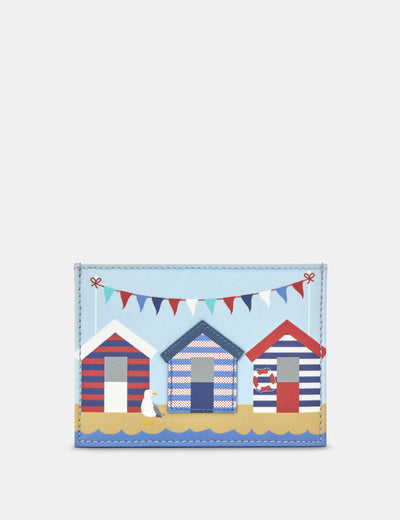 Beach Huts Leather Academy Card Holder - Yoshi