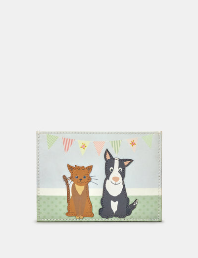 Pet Tea Party Leather Academy Card Holder - Yoshi