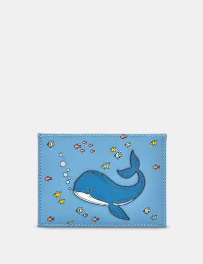 Leather Whale Academy Card Holder - Yoshi