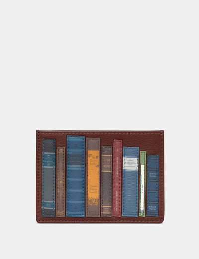 Bookworm Brown Leather Academy Card Holder - Yoshi