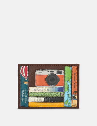 Travel Bookworm Brown Leather Academy Card Holder - Yoshi