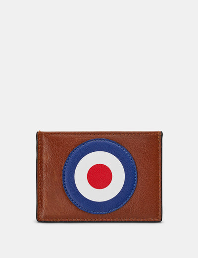 Mod Target Brown Leather Academy Card Holder - Yoshi