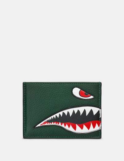 Nose Cone Green Leather Academy Card Holder - Yoshi