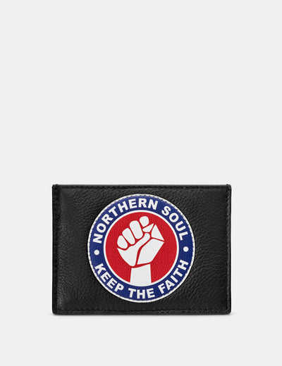 Northern Soul Black Leather Academy Card Holder - Yoshi