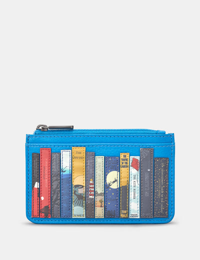 Bookworm Cobalt Blue Leather Morton Card Holder - Yoshi
