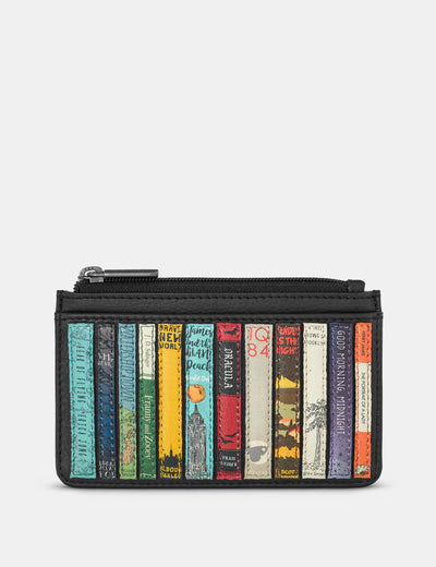 Bookworm Black Leather Morton Card Holder - Yoshi