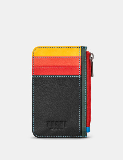 Black Multi Leather Morton Card Holder - Yoshi