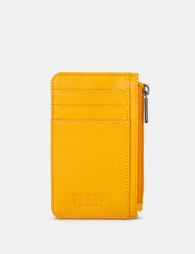Yellow Leather Morton Card Holder - Yoshi