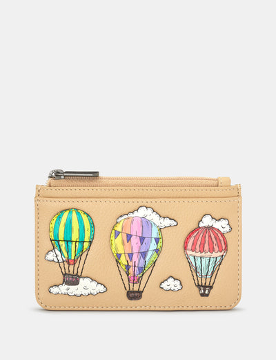 Amongst The Clouds Leather Morton Card Holder - Yoshi