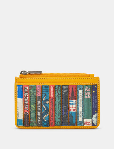 Bookworm Yellow Leather Morton Card Holder - Yoshi