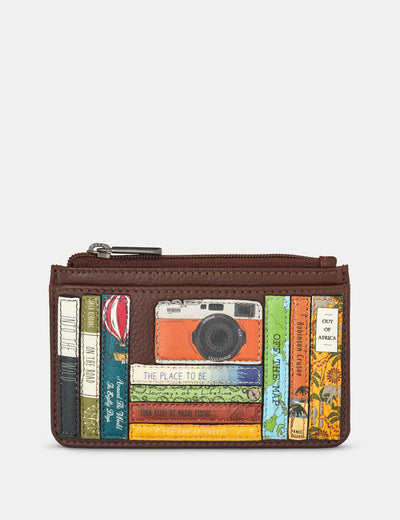 Travel Bookworm Brown Leather Morton Card Holder - Yoshi
