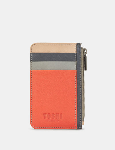 Coral Multi Leather Morton Card Holder - Yoshi