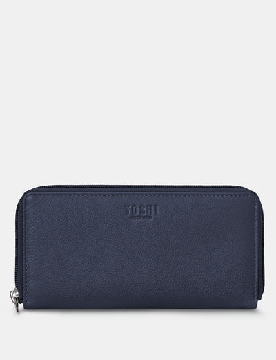 Navy Leather Baxter Purse - Yoshi