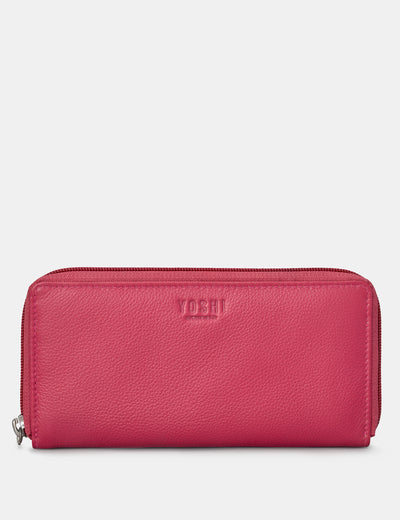 Raspberry Leather Baxter Purse - Yoshi