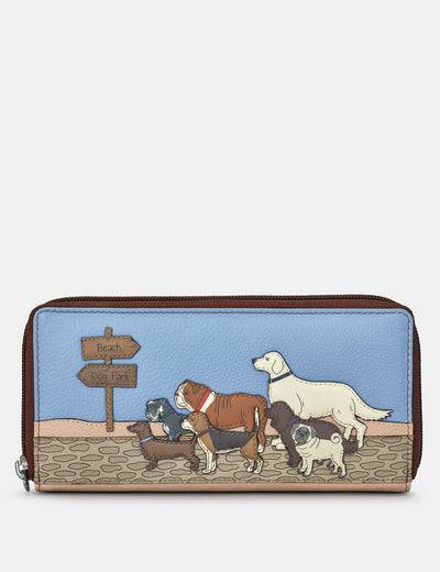 Dog Walk Brown Leather Baxter Purse - Yoshi