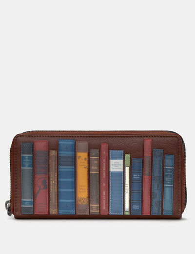 Bookworm Brown Leather Baxter Purse - Yoshi