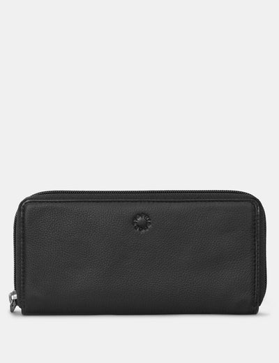 Black Leather Baxter Purse - Yoshi