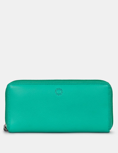 Jade Green Leather Baxter Purse - Yoshi
