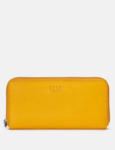 Yellow Leather Baxter Purse - Yoshi