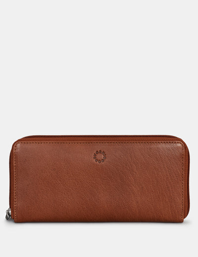 Brown Leather Baxter Purse - Yoshi