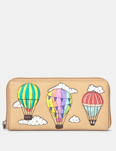 Amongst The Clouds Leather Baxter Purse - Yoshi