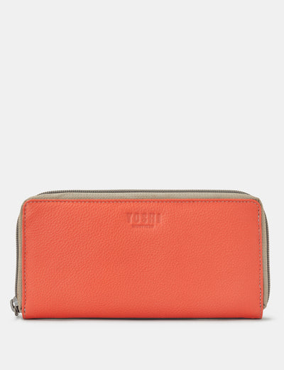 Coral Multi Leather Baxter Purse - Yoshi