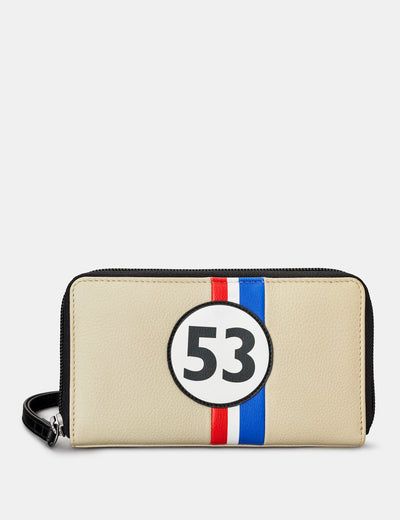 Car Livery #53 Leather Zip Around Purse With Wrist Strap - Yoshi
