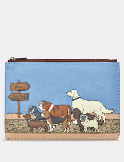 Dog Walk Brown Leather Brooklyn Pouch - Yoshi