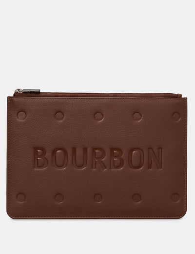 Bourbon Biscuit Leather Brooklyn Pouch - Yoshi
