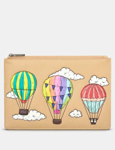 Amongst The Clouds Leather Brooklyn Pouch - Yoshi