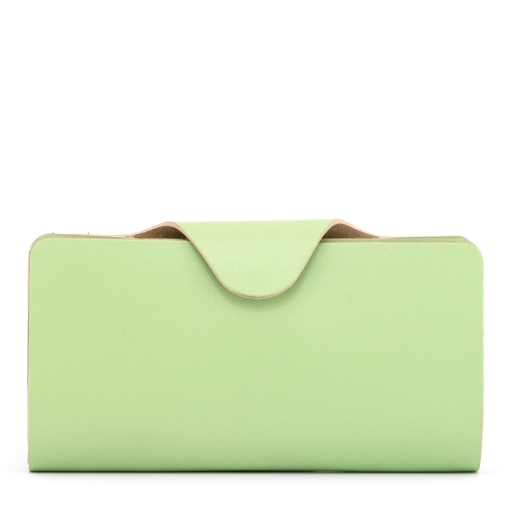 Green Leather Large Satchel Purse