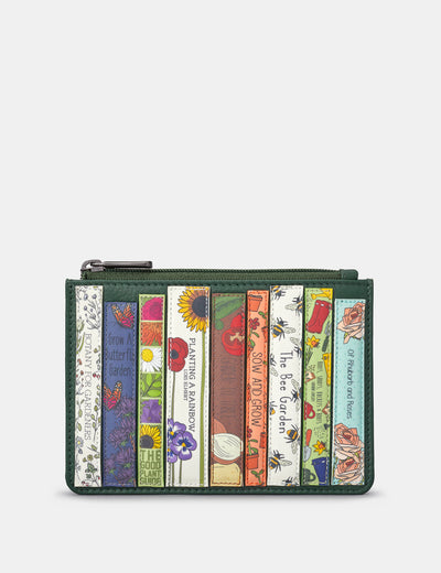 Green Fingers Bookworm Leather Franklin Purse - Yoshi