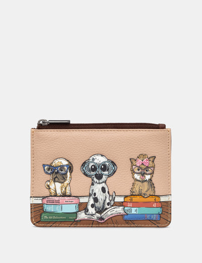 Bookhound Gang Brown Leather Franklin Purse - Yoshi