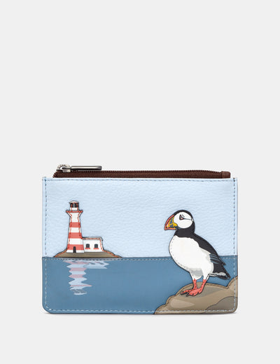 Puffin Island Brown Leather Franklin Purse - Yoshi