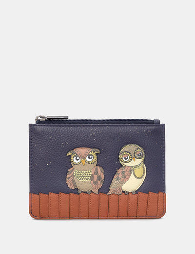 Owl You Need Navy Leather Franklin Purse - Yoshi