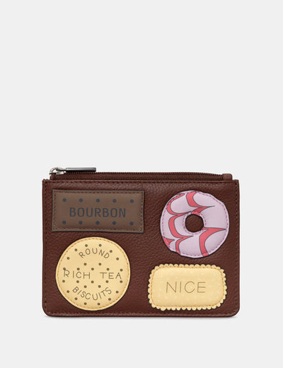 Teatime Favourites Brown Leather Franklin Purse - Yoshi