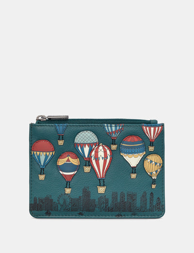 Amongst The Clouds Teal Leather Franklin Purse - Yoshi