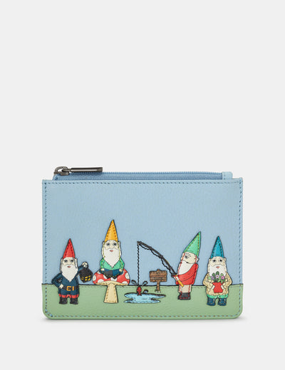 Gnome Sweet Gnome Blue Leather Franklin Purse - Yoshi