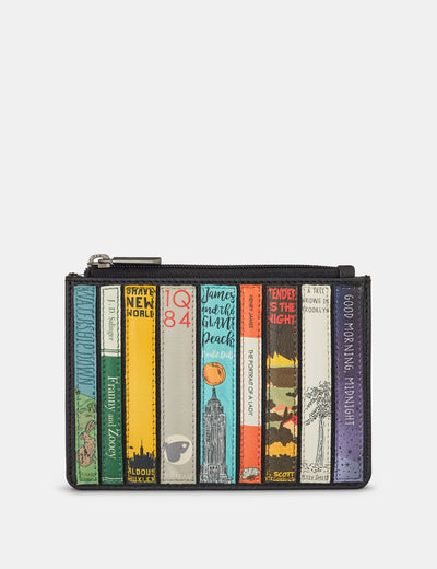 Bookworm Black Leather Franklin Purse - Yoshi