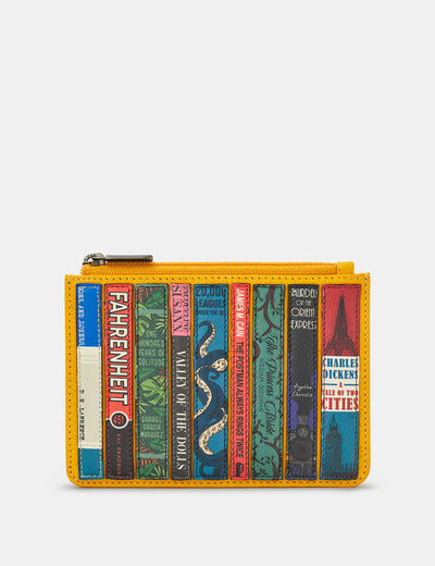 Bookworm Yellow Leather Franklin Purse - Yoshi