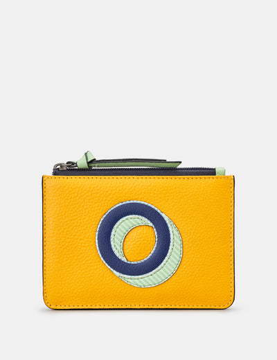 O Monogram Yellow Leather Purse - Yoshi
