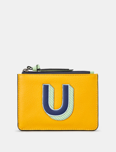U Monogram Yellow Leather Purse - Yoshi