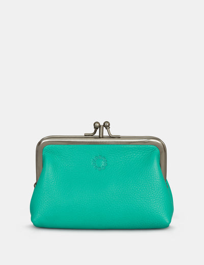 Jade Green Leather Aubrey Frame Purse - Yoshi