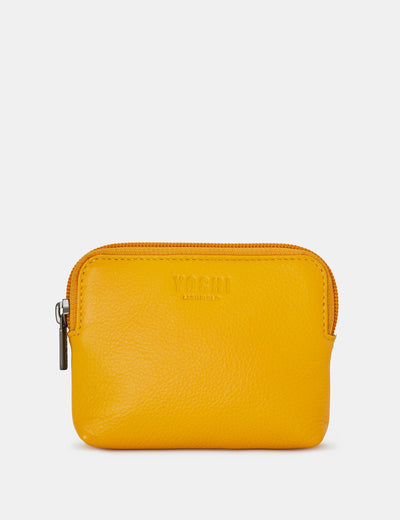 Yellow Leather Chatham Purse - Yoshi