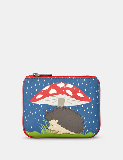 Hattie The Hedgehog Zip Top Leather Purse - Yoshi