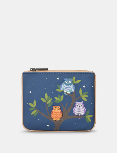 Having A Hoot Zip Top Leather Purse - Yoshi