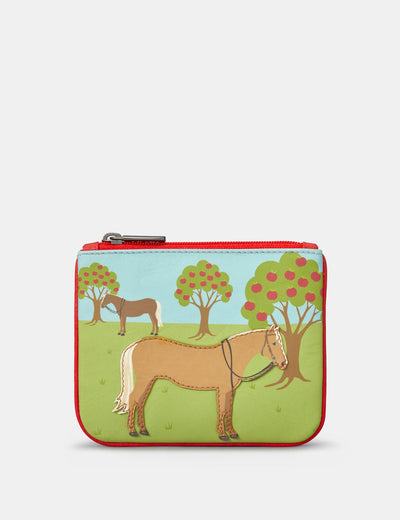 Day At The Stables Zip Top Leather Purse - Yoshi