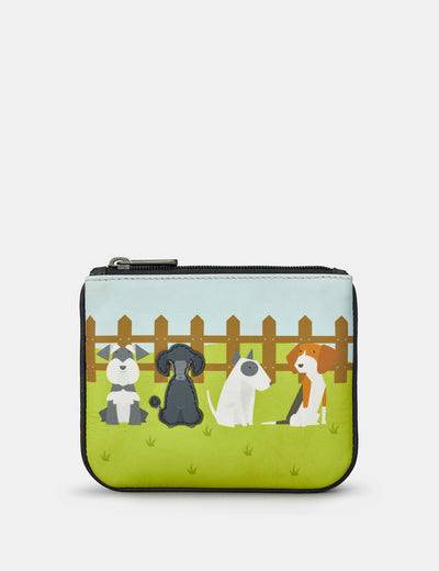 Puppy Dogs Zip Top Leather Purse - Yoshi